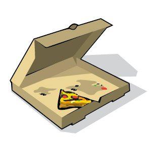 Emballages de nourriture (boite à pizza, papier à muffin, carton souillé, etc.)